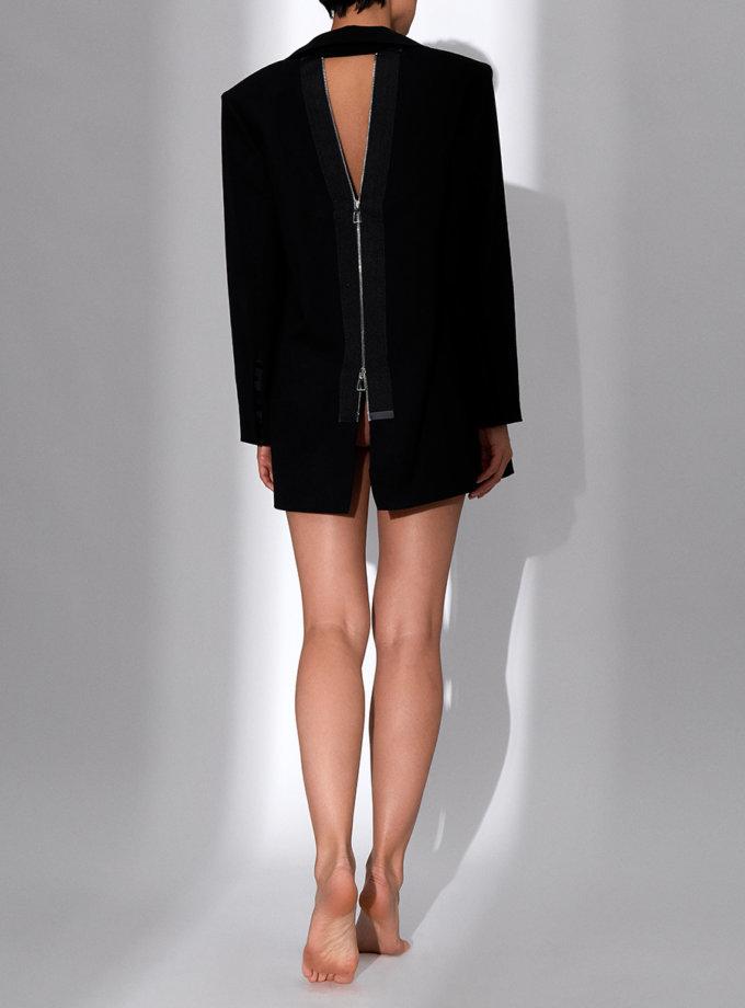 Жакет с открытой спиной на молнии SLR_SS20_1, фото 1 - в интернет магазине KAPSULA