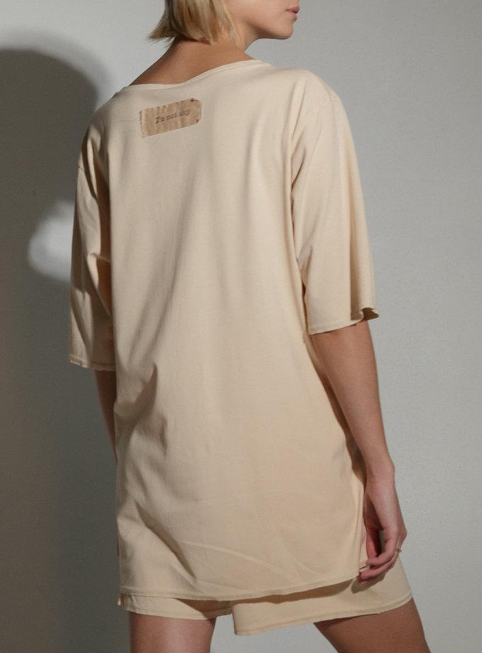 Хлопковая футболка SLR_SS21_10, фото 1 - в интернет магазине KAPSULA