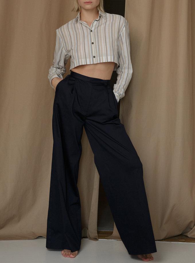 Хлопковые брюки палацо SLR_SS21_23, фото 1 - в интернет магазине KAPSULA