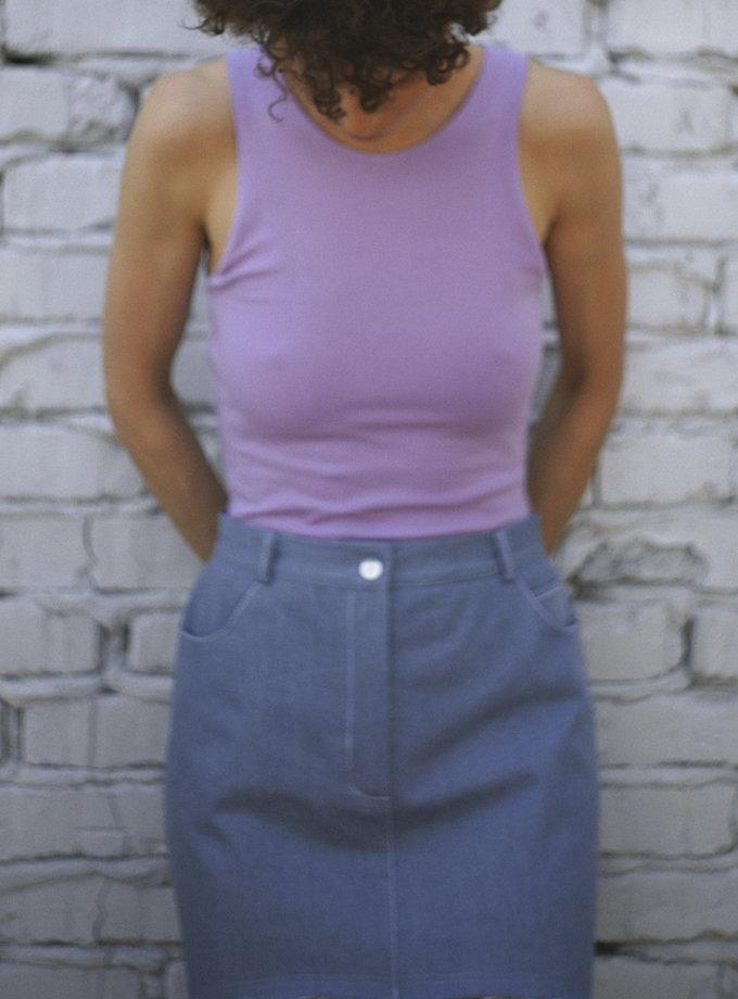 Хлопковый топ REAL SNDR_SSR2-1-violet, фото 1 - в интернет магазине KAPSULA