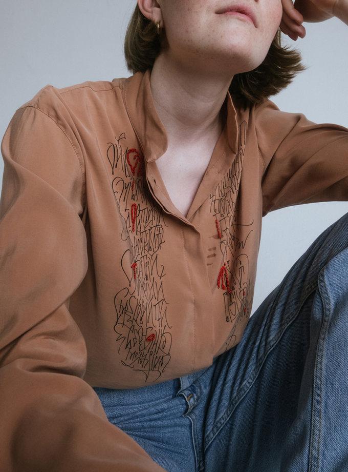 Сорочка Очі Волошкові NST_ShortS, фото 1 - в интернет магазине KAPSULA