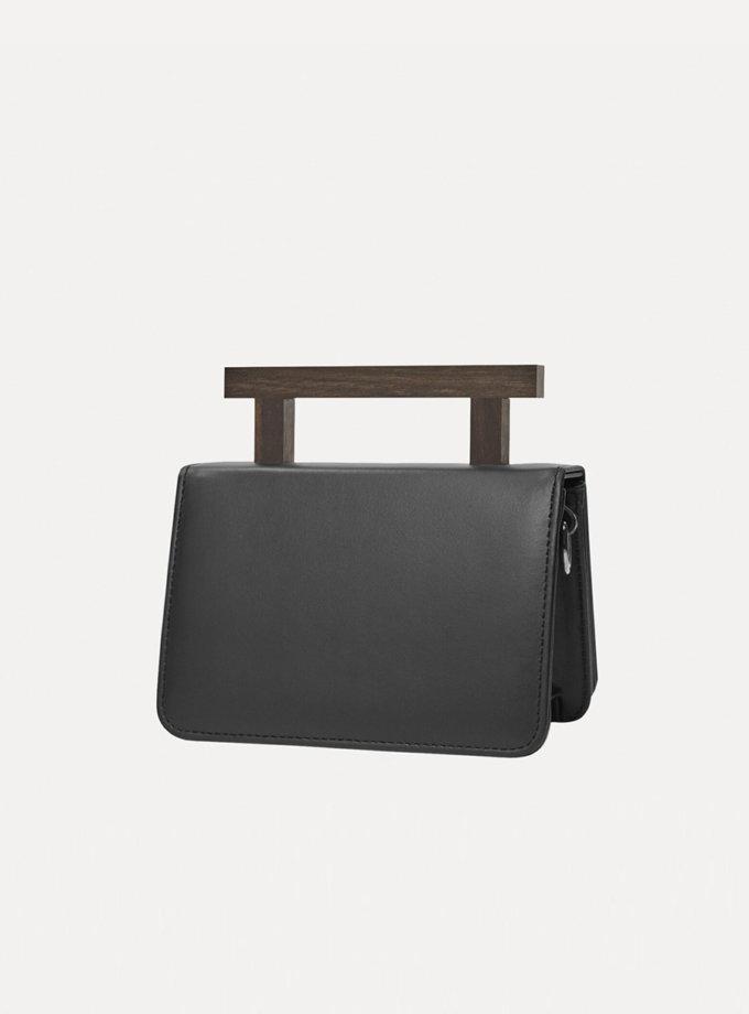 Шкіряна сумка Small Nicole Bag in Black LPR_NI-BA-S-Black, фото 1 - в интернет магазине KAPSULA