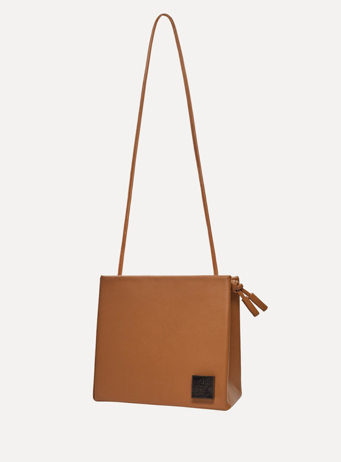Шкіряна сумка Square Bag in Brown LPR_SQ-BA-M-Brown, фото 1 - в интернет магазине KAPSULA