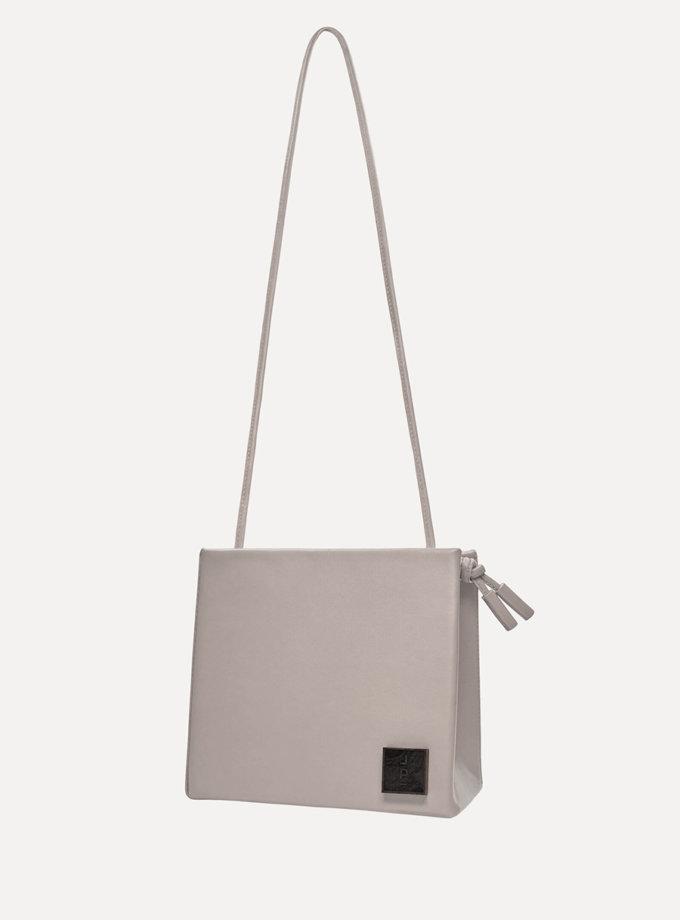 Шкіряна сумка Square Bag in Grey LPR_SQ-BA-M-Grey, фото 1 - в интернет магазине KAPSULA