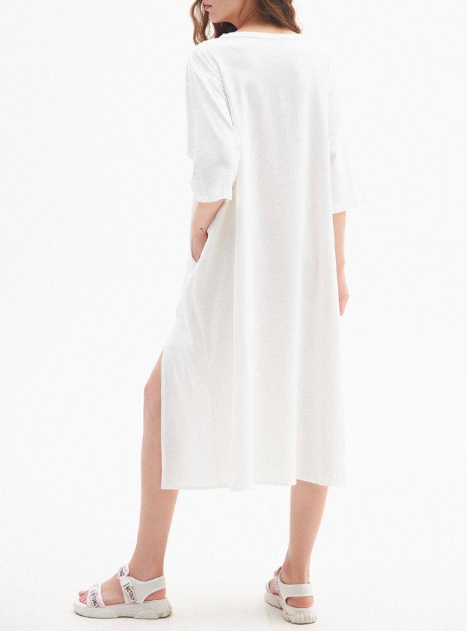 Легка лляна сукня BIRCH FRM_TYE_06A_I, фото 1 - в интернет магазине KAPSULA