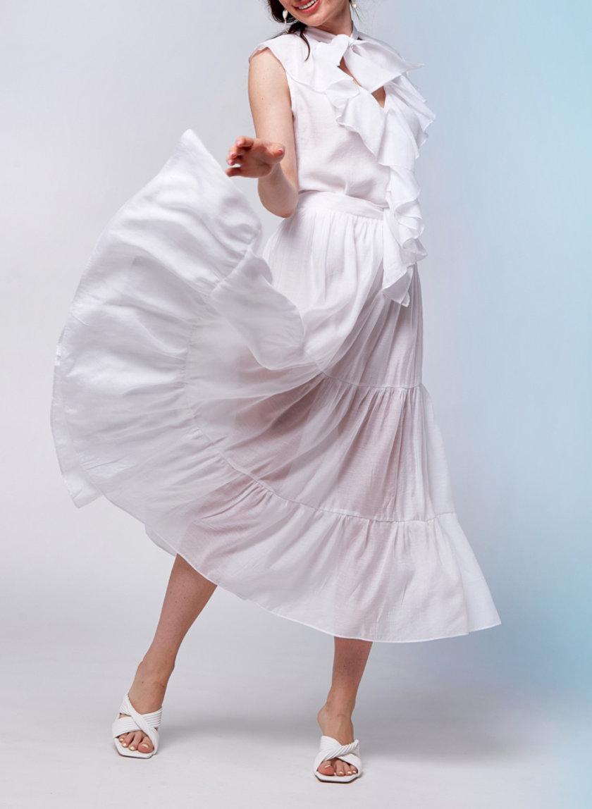 Воздушная юбка на резинке CVR_UBBEL-SS21, фото 1 - в интернет магазине KAPSULA