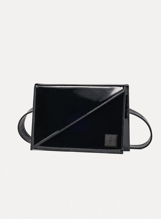 Шкіряна сумка Alex Note in patent black LPR_AL-NO-M-black, фото 1 - в интернет магазине KAPSULA