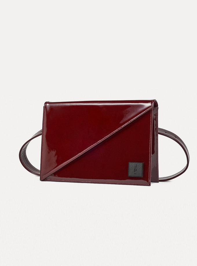 Кожаная сумка Alex Note in patent red LPR_AL-NO-M-patent red, фото 1 - в интернет магазине KAPSULA