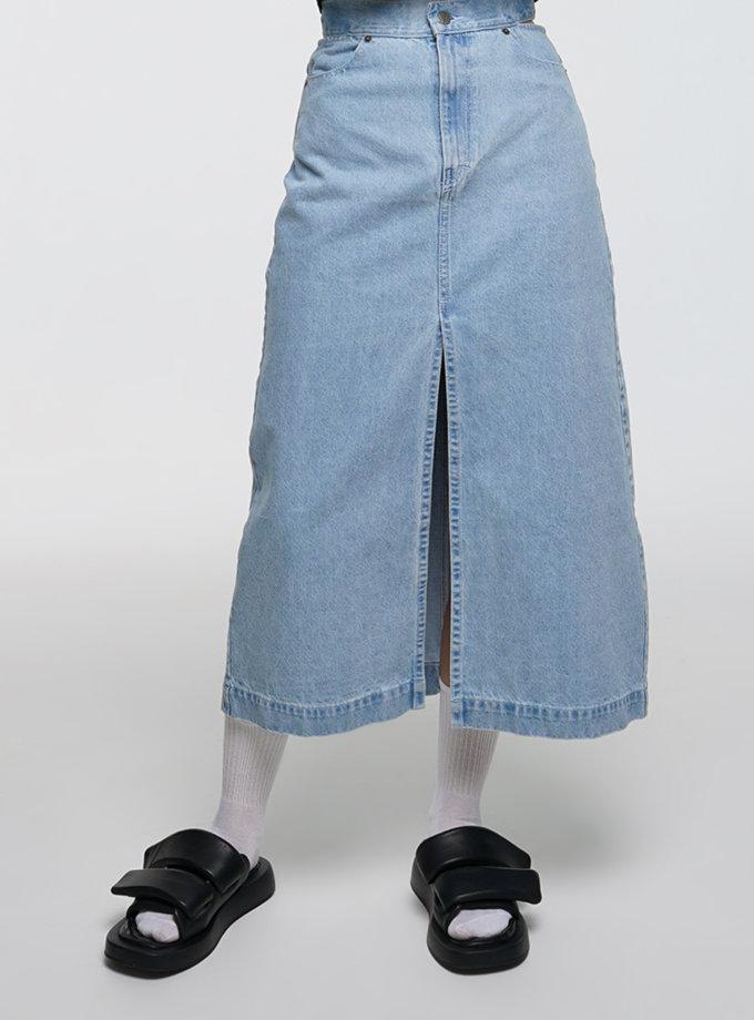 Джинсова спідниця WNDM_dr21-skrts-blue, фото 1 - в интернет магазине KAPSULA