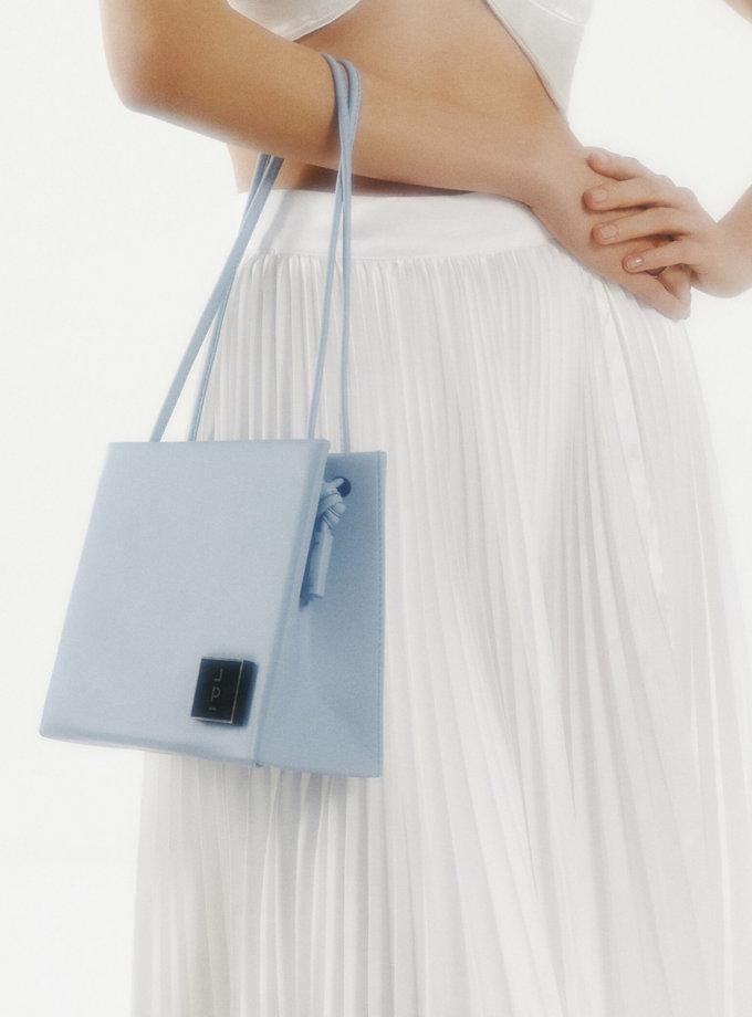 Шкіряна сумка Square Bag in Light Blue LPR_SQ-BA-M-Light Blue, фото 1 - в интернет магазине KAPSULA