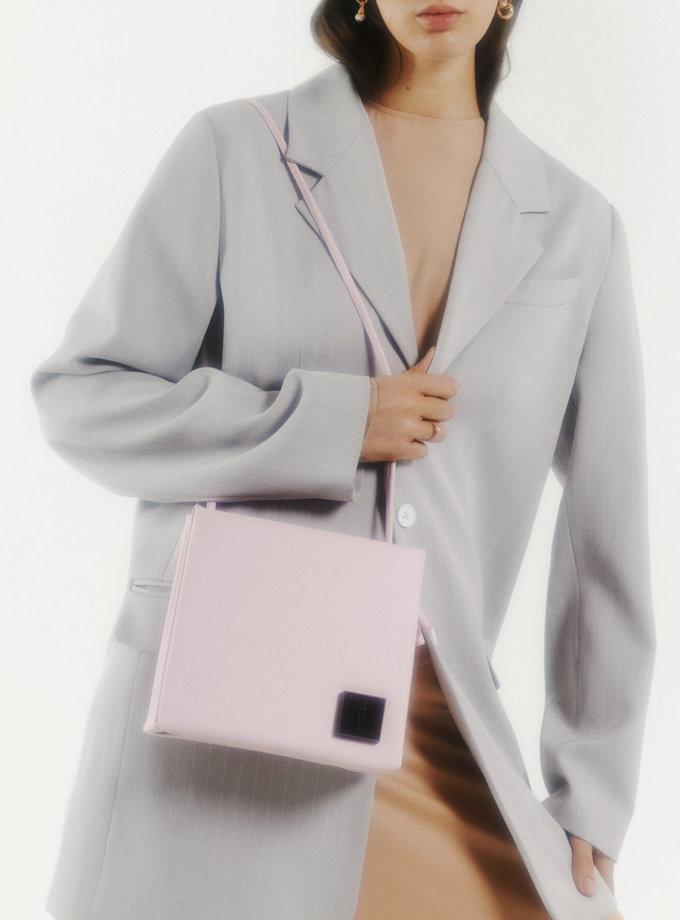 Шкіряна сумка Square Bag in Pink LPR_SQ-BA-M-Pink, фото 1 - в интернет магазине KAPSULA