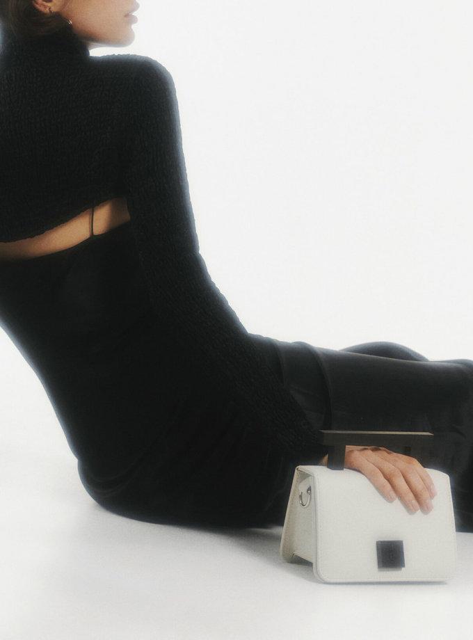 Кожаная сумка Small Nicole Bag in Off-White LPR_NI-BA-S-Off-White, фото 1 - в интернет магазине KAPSULA