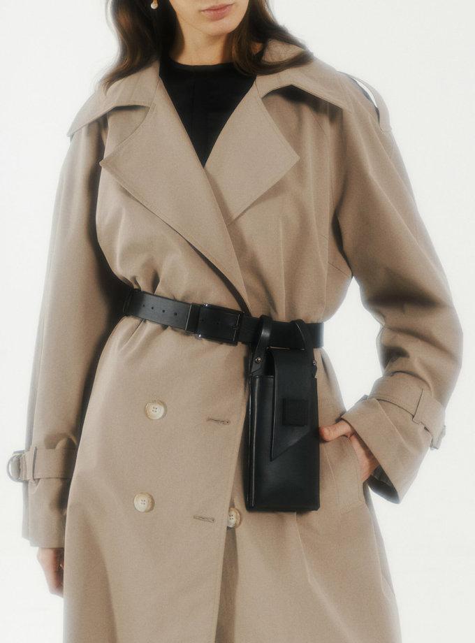 Телефонний ремінь Maryna in black LPR_MA-PH-BE-black, фото 1 - в интернет магазине KAPSULA