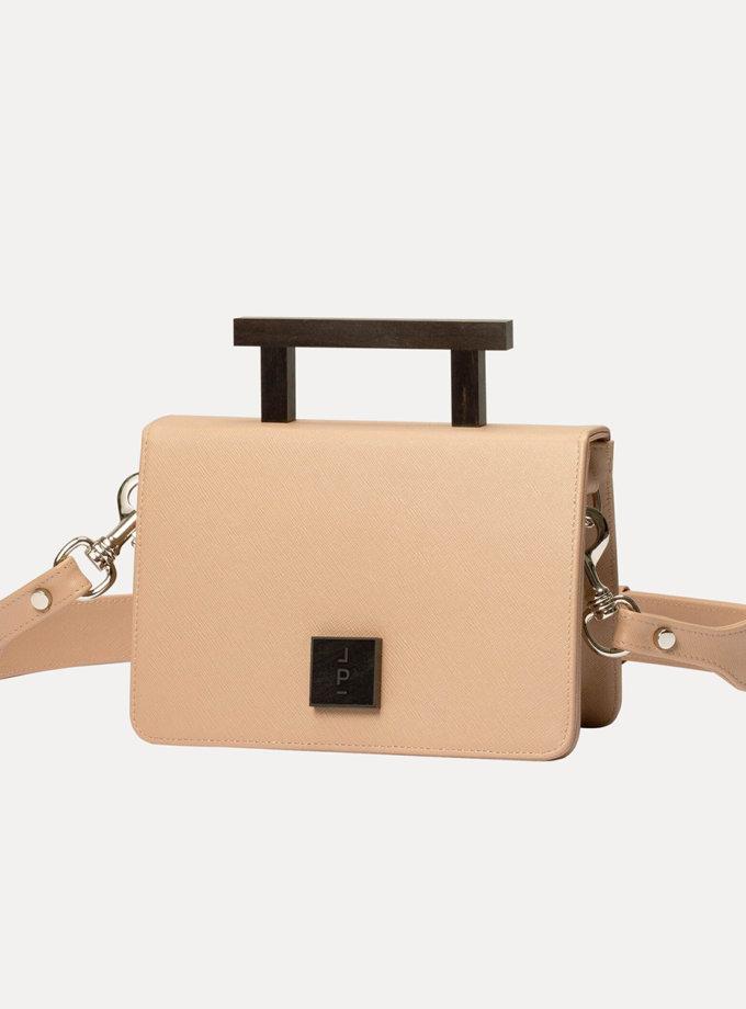 Кожаная сумка Medium Nicole Bag in Beige LPR_NI-BA-M-Beige, фото 1 - в интернет магазине KAPSULA