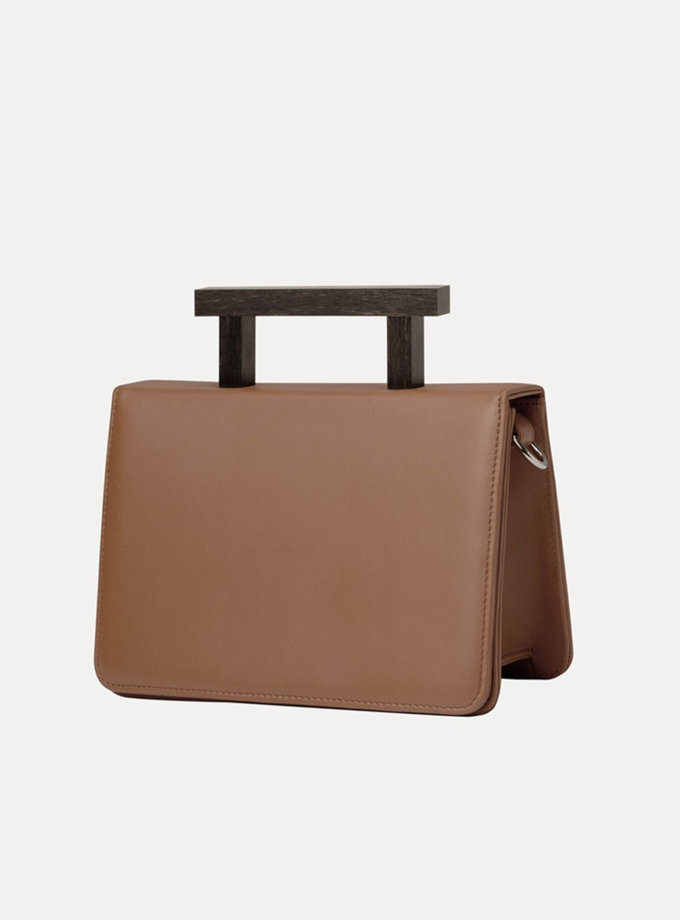 Шкіряна сумка Medium Nicole Bag in Brown LPR_NI-BA-M-Brown, фото 1 - в интернет магазине KAPSULA