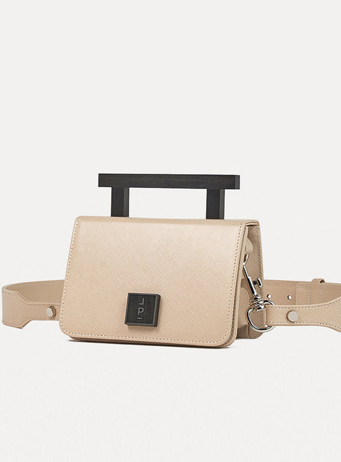 Кожаная сумка Small Nicole Bag in Beige LPR_NI-BA-S-Beige, фото 1 - в интернет магазине KAPSULA
