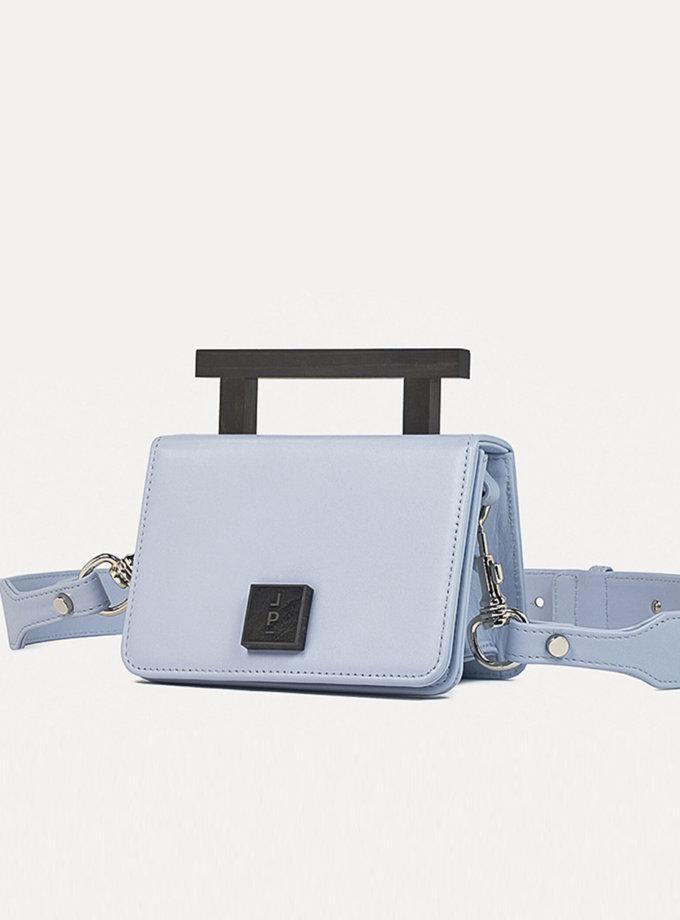 Кожаная сумка Small Nicole Bag in Light Blue LPR_NI-BA-S-Blue, фото 1 - в интернет магазине KAPSULA