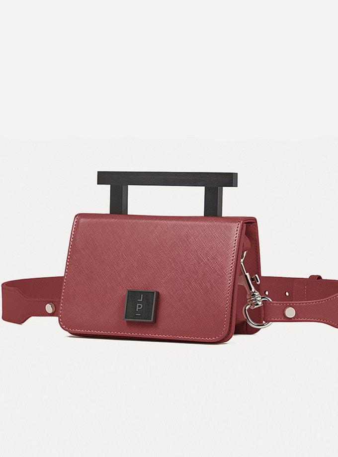 Кожаная сумка Small Nicole Bag in Wine LPR_NI-BA-S-Wine, фото 1 - в интернет магазине KAPSULA