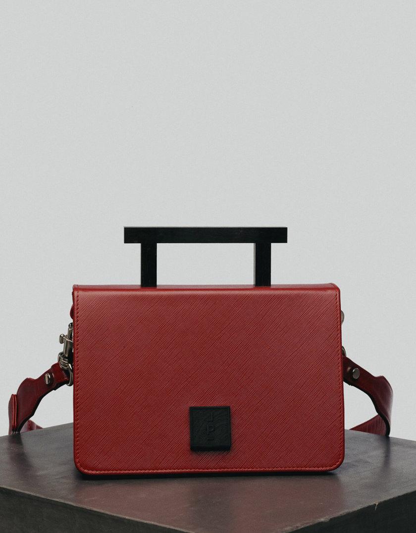 Кожаная сумка Medium Nicole Bag in Wine LPR_NI-BA-M-Wine, фото 1 - в интернет магазине KAPSULA