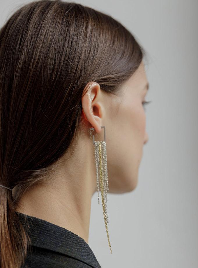 Срібні сережки c ланцюжками LGV_sergi-tsepochki, фото 1 - в интернет магазине KAPSULA