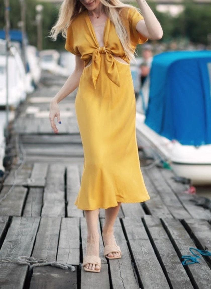 Платье миди из тенсела KS_SS24_42, фото 1 - в интернет магазине KAPSULA