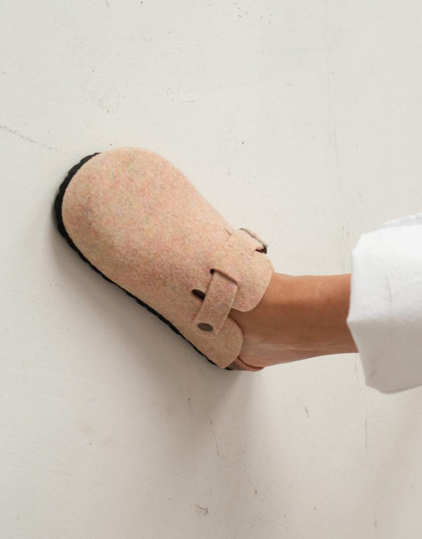 Тапочки из войлока FIELT-S ROSA ETP_FIELT-S-ROSA, фото 1 - в интернет магазине KAPSULA