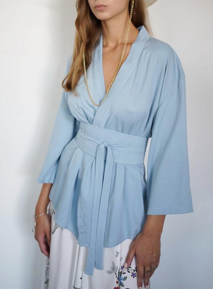 Блуза на запах з поясом INS_SS20_2-blouse, фото 1 - в интернет магазине KAPSULA