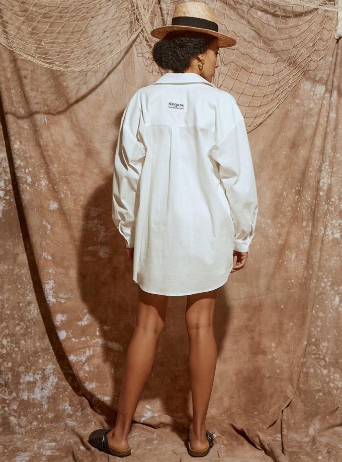 Льняная рубашка свободного кроя KLSV_ss21_3, фото 1 - в интернет магазине KAPSULA