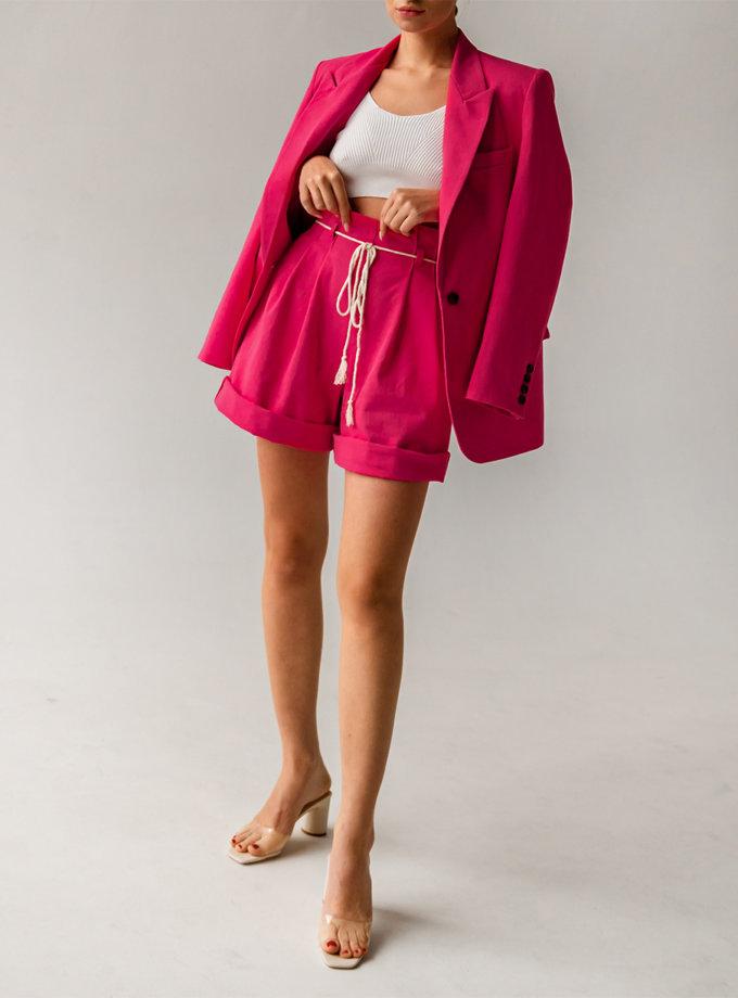Хлопковый шорты бермуды SHE_shorts_pink, фото 1 - в интернет магазине KAPSULA