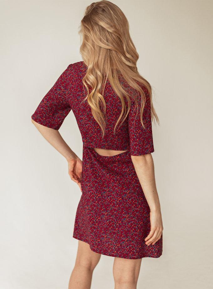Хлопковое платье мини Диана WKMF_63_2, фото 1 - в интернет магазине KAPSULA