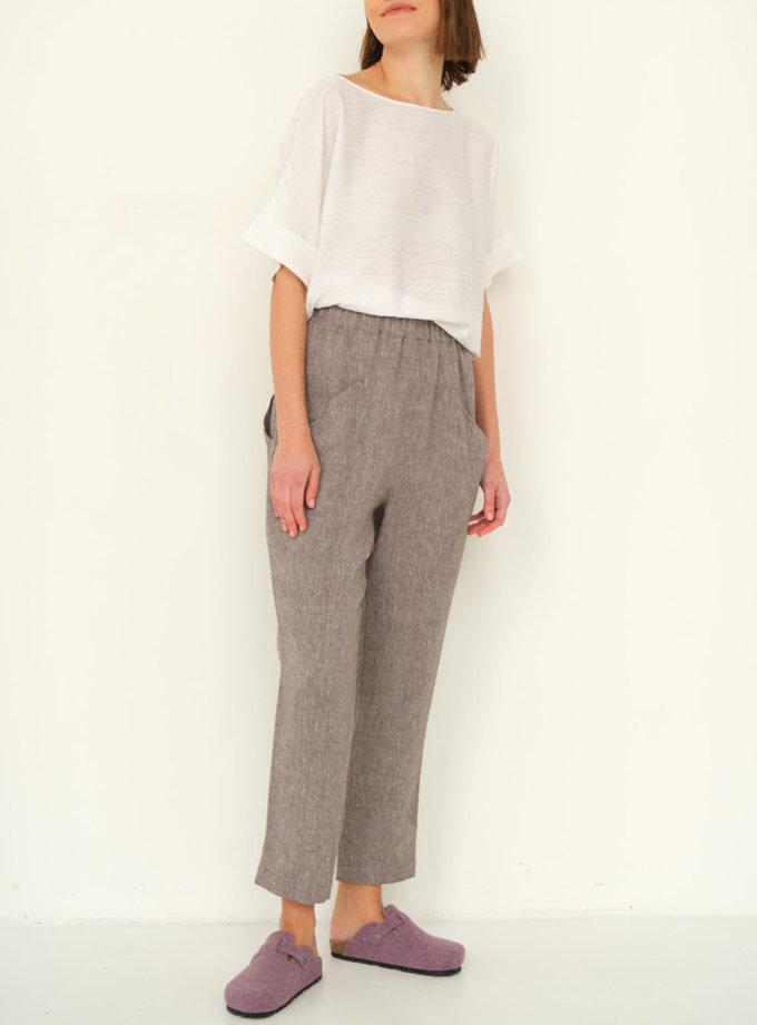 Льняные брюки ETP_ Ewtrbraun, фото 1 - в интернет магазине KAPSULA