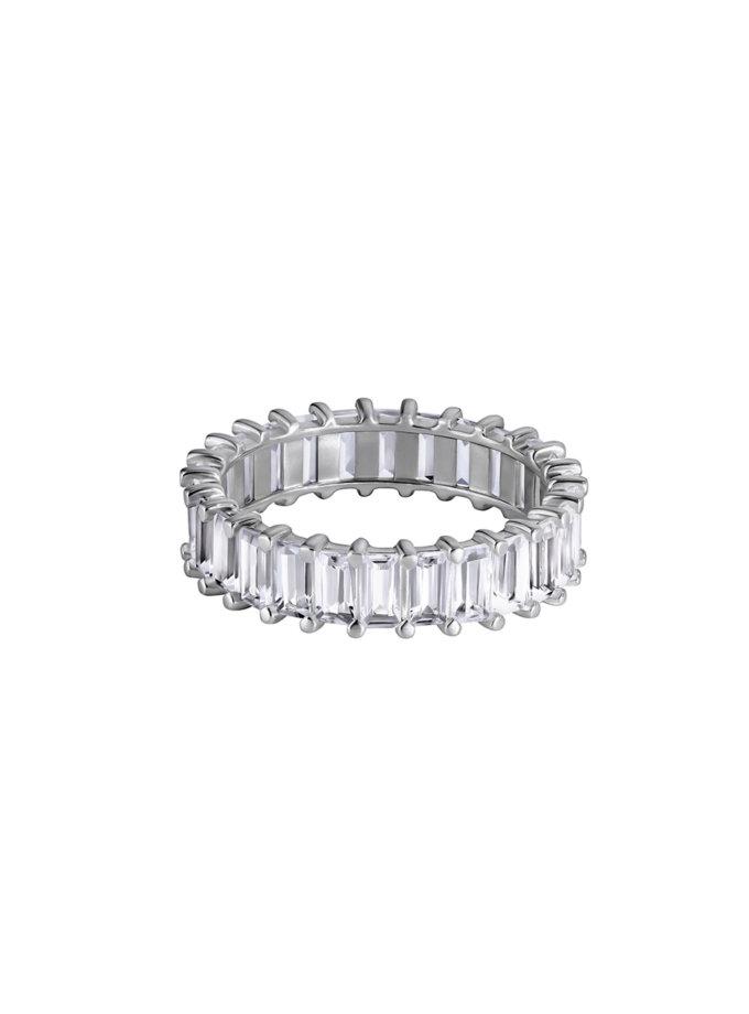 Серебряное кольцо-дорожка с хрусталем BRND_XKDC400, фото 1 - в интернет магазине KAPSULA