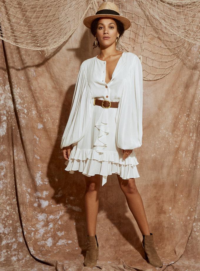 Платье мини с объемными рукавами KLSV_ss21_6, фото 1 - в интернет магазине KAPSULA