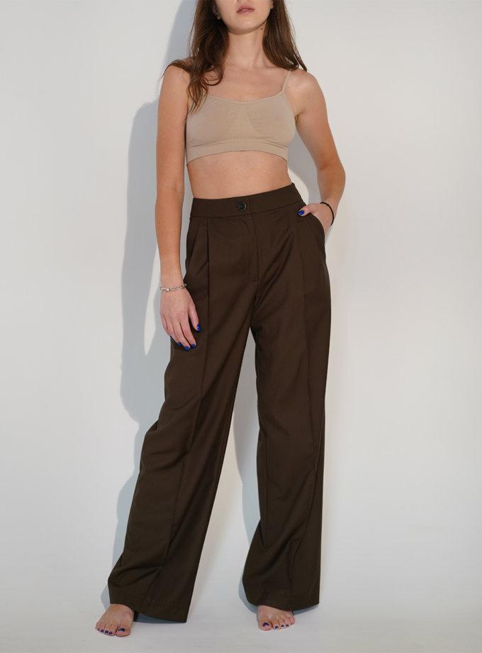 Шерстяные брюки с высокой посадкой TATI_44, фото 1 - в интернет магазине KAPSULA