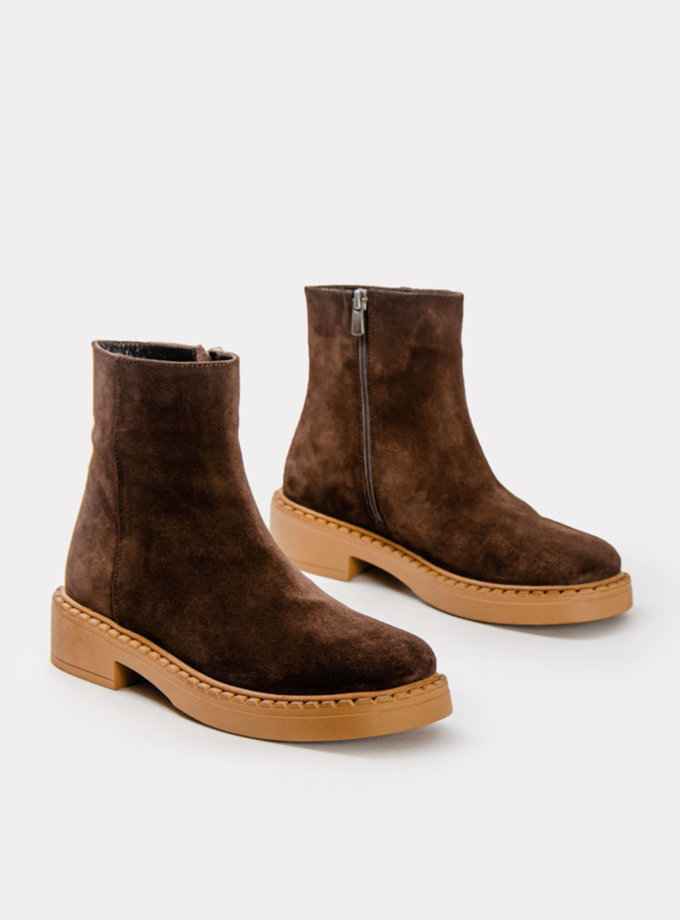 Замшеві ботинки CRS_21-01472, фото 1 - в интернет магазине KAPSULA