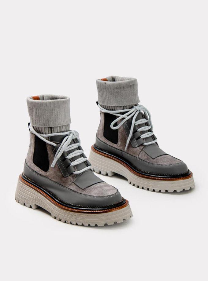 Шкіряні ботинки CRS_21-01501, фото 1 - в интернет магазине KAPSULA