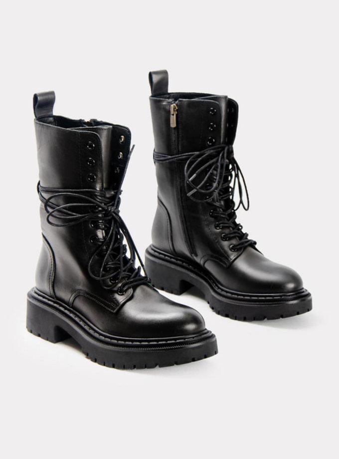 Шкіряні ботинки CRS_21-01628, фото 1 - в интернет магазине KAPSULA