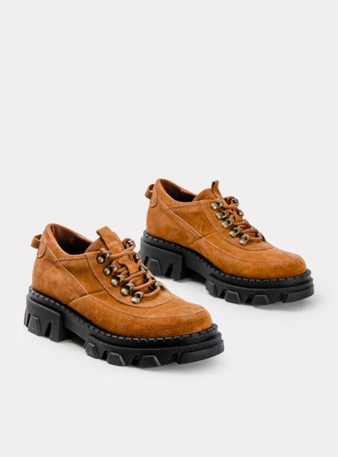 Замшевые кроссовки CRS_21-01644, фото 1 - в интернет магазине KAPSULA