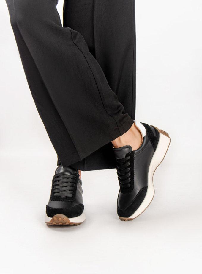 Кожаные кроссовки CRS_21-01692, фото 1 - в интернет магазине KAPSULA