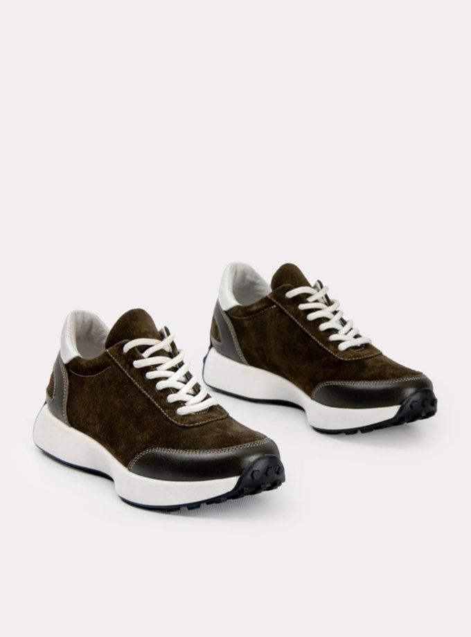 Замшевые кроссовки CRS_21-01695, фото 1 - в интернет магазине KAPSULA