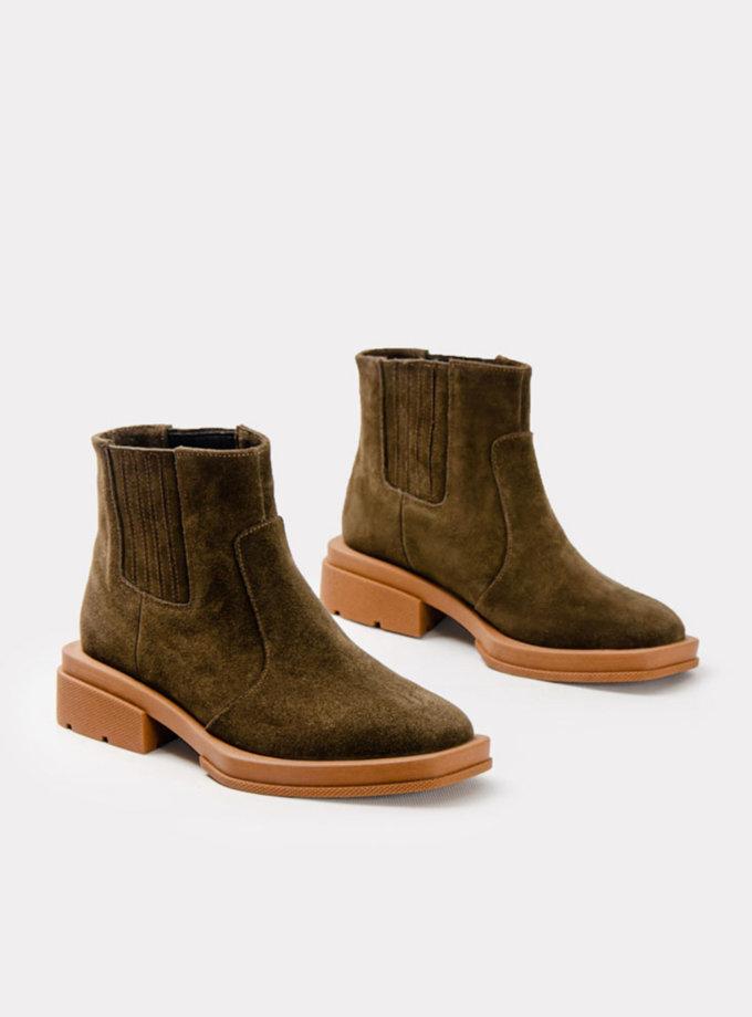 Замшеві ботинки CRS_21-01698, фото 1 - в интернет магазине KAPSULA