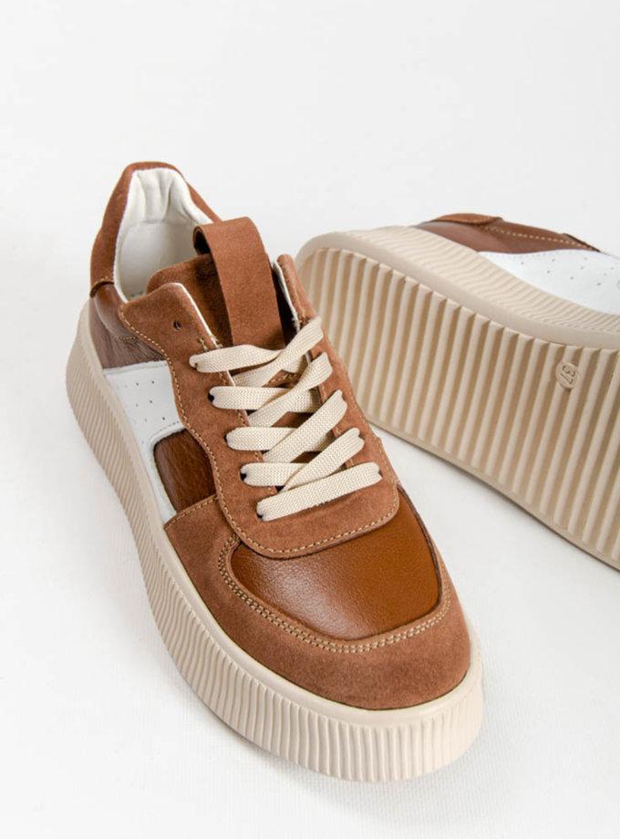 Кроссовки с натуральной кожи CRS_21-01710, фото 1 - в интернет магазине KAPSULA