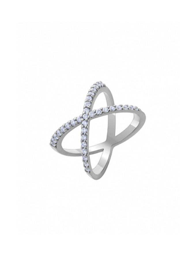 Серебряное кольцо с фианитами Infinity BRND_R6610131, фото 1 - в интернет магазине KAPSULA