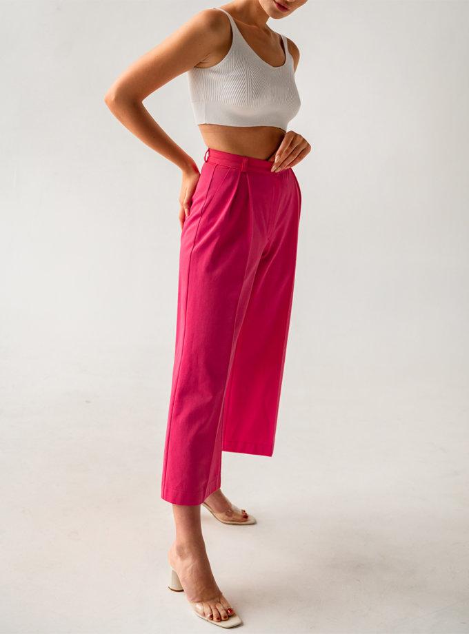 Кюлоты из хлопка SHE_culottes_pink, фото 1 - в интернет магазине KAPSULA
