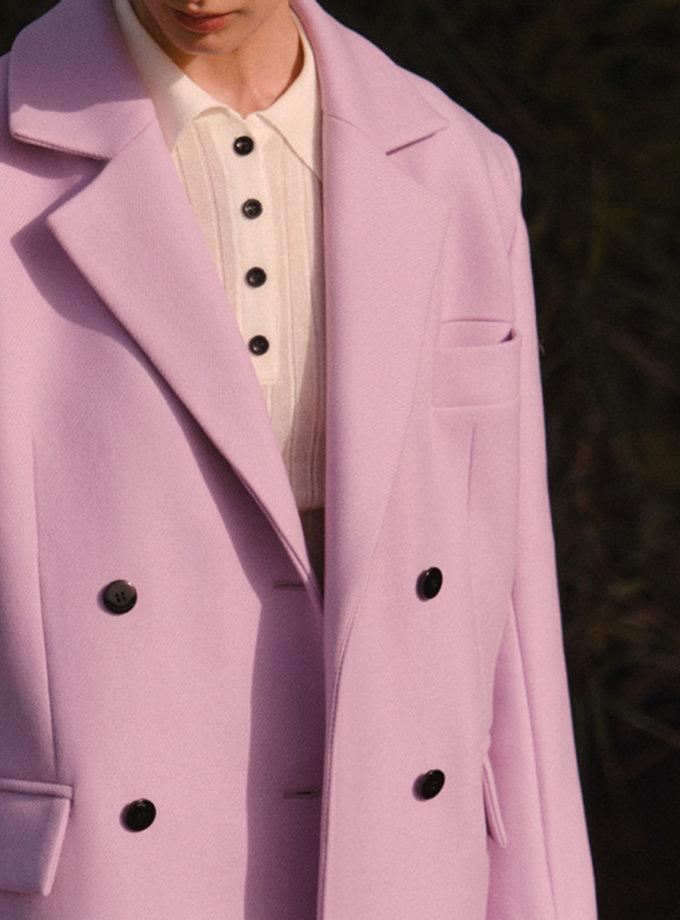 Коротке пальто з вовни LAB_2206, фото 1 - в интернет магазине KAPSULA