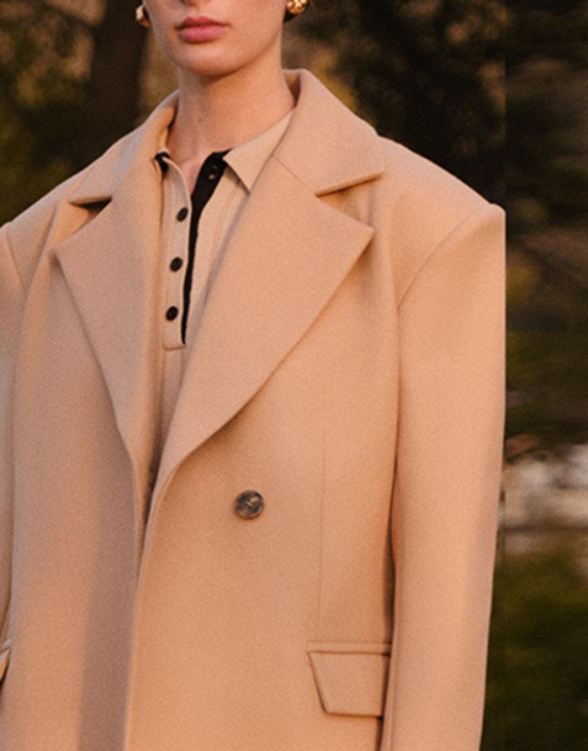 Двубортное пальто с приталенным силуэтом LAB_2207, фото 1 - в интернет магазине KAPSULA