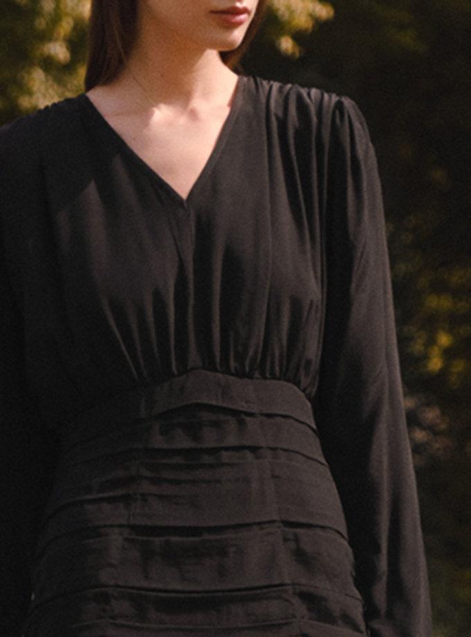 Платье мини с  V-вырезом LAB_2209, фото 1 - в интернет магазине KAPSULA