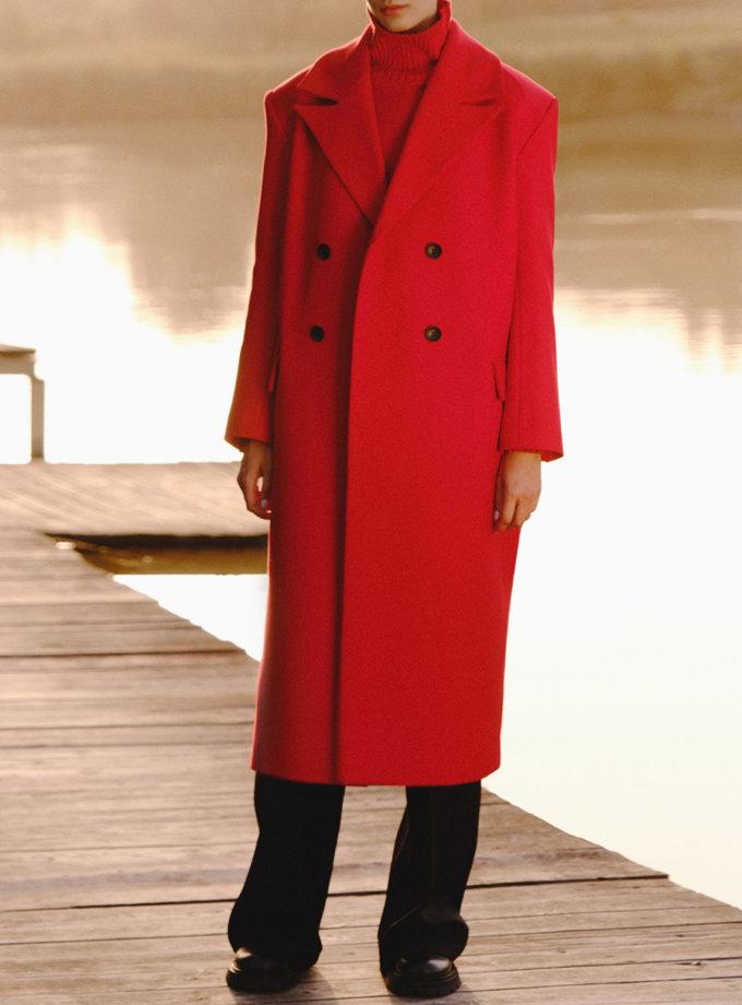 Двобортне пальто з приталеним силуетом LAB_2214, фото 1 - в интернет магазине KAPSULA