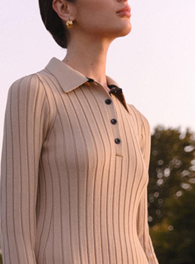 Шерстяное платье поло LAB_2217, фото 1 - в интернет магазине KAPSULA