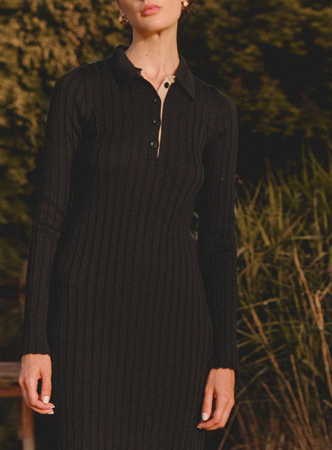 Шерстяное платье поло LAB_2216, фото 1 - в интернет магазине KAPSULA